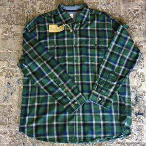NWT Ocean Coast plaid button down shirt